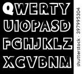 grunge letters design...   Shutterstock .eps vector #397995304