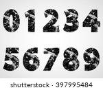 grunge numbers design... | Shutterstock .eps vector #397995484