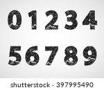 grunge numbers design... | Shutterstock .eps vector #397995490