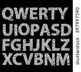 grunge texture letters...   Shutterstock .eps vector #397997590