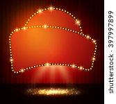 shining retro casino banner on... | Shutterstock .eps vector #397997899