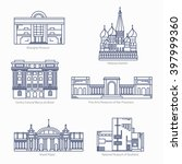 monuments thin line vector... | Shutterstock .eps vector #397999360