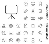 linear planning icons set....
