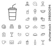 linear cafe icons set....
