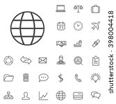 linear business icons set....
