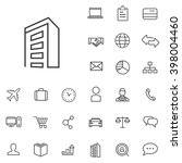 linear company icons set.... | Shutterstock .eps vector #398004460