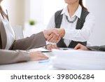 handshake of business people in