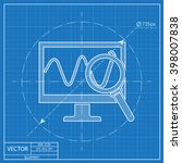 monitoring vector blueprint... | Shutterstock .eps vector #398007838