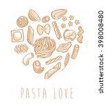 pasta love | Shutterstock .eps vector #398008480
