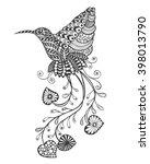 zentangle stylized paradise... | Shutterstock .eps vector #398013790