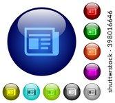 set of color news glass web...