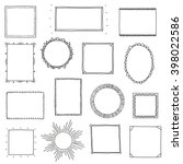 hand drawn frames set. cartoon... | Shutterstock .eps vector #398022586