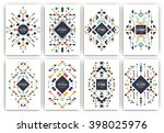 set of geometric abstract... | Shutterstock .eps vector #398025976