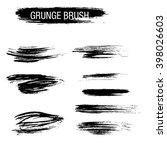 vector set of grunge brush... | Shutterstock .eps vector #398026603