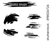 vector set of grunge brush... | Shutterstock .eps vector #398026726