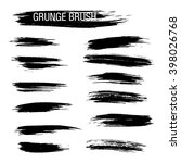 vector set of grunge brush... | Shutterstock .eps vector #398026768