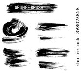 vector set of grunge brush... | Shutterstock .eps vector #398026858
