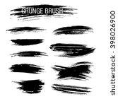 vector set of grunge brush... | Shutterstock .eps vector #398026900