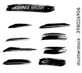 vector set of grunge brush... | Shutterstock .eps vector #398026906