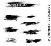 vector set of grunge brush...   Shutterstock .eps vector #398026918