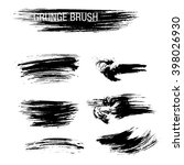 vector set of grunge brush... | Shutterstock .eps vector #398026930