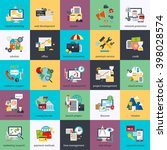 flat conceptual icons set of... | Shutterstock .eps vector #398028574