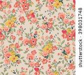 beautiful pink floral seamless... | Shutterstock .eps vector #398031748