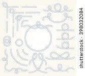 rope nautical vector borders... | Shutterstock .eps vector #398032084