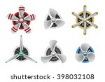 turbines icons. aircraft... | Shutterstock .eps vector #398032108