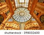 vittorio em. gallery  milan ... | Shutterstock . vector #398032600
