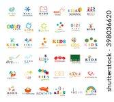 children icons set isolated on... | Shutterstock .eps vector #398036620