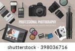 professional photographer...   Shutterstock .eps vector #398036716