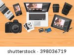 professional photographer... | Shutterstock .eps vector #398036719