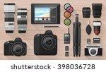 professional photographer... | Shutterstock .eps vector #398036728
