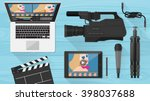video making  shooting and... | Shutterstock .eps vector #398037688