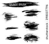 vector set of grunge brush...   Shutterstock .eps vector #398037796