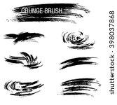 vector set of grunge brush... | Shutterstock .eps vector #398037868