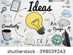 ideas idea vision design plan... | Shutterstock . vector #398039263