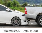 car accident involving two cars ... | Shutterstock . vector #398041300