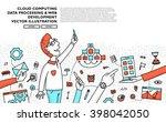 flat style  thin line art... | Shutterstock .eps vector #398042050