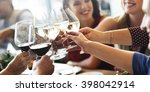 meal cafe eating collaboration... | Shutterstock . vector #398042914