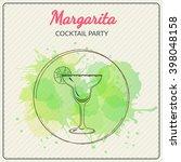 margarita. hand drawn vector... | Shutterstock .eps vector #398048158