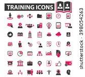 training icons  | Shutterstock .eps vector #398054263