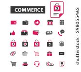 commerce icons  | Shutterstock .eps vector #398055463