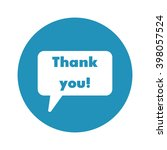 speech bubble icon with thank... | Shutterstock .eps vector #398057524