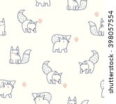 seamless pattern with cute... | Shutterstock .eps vector #398057554