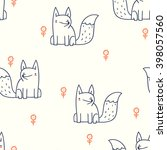 seamless pattern with cute... | Shutterstock .eps vector #398057560