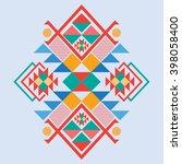 vector aztec stile tribal... | Shutterstock .eps vector #398058400