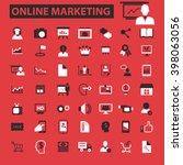 online marketing icons  | Shutterstock .eps vector #398063056