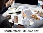 business people meeting... | Shutterstock . vector #398065429